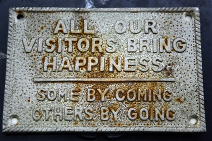 Plaque at Daniel Pillis' home A plaque at the entrance of Daniel Pillis' home in Lawrenceville.