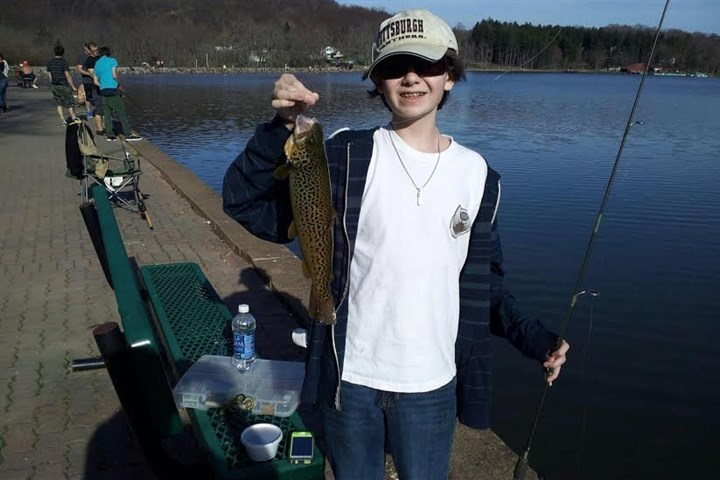 CONTESTkaufer Max Kaufer, 14, of Greensburg released this 17-incher at Twin Lakes, caught on spinner.