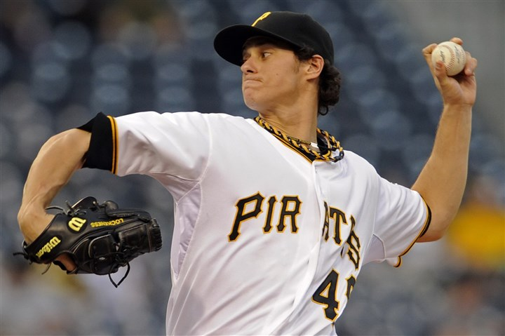 Pirates' Jeff Locke Pirates' Jeff Locke pitches against the Braves at PNC Park last year on April 18, 2013,