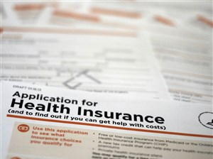 A draft copy of the Department of Health and Human Services form proposed for use to apply for low-cost insurance from Medicaid or the Children's Health Insurance Program.
