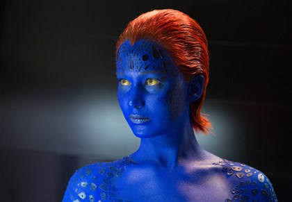 "20140501XMen_preview-2 Jennifer Lawrence as Mystique in ""X-Men: Days of Future Past."""