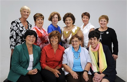 2013kwjeffretirednurses-1 From left, Kathy Rendulic, Patricia Pjontek, Beverly Courtney, Maureen Leonardo, Kay Dieckmann, Beverly Colcombe. Seated: Lenore Resick, Jeannie Skinner, Filomena Varvaro Catherine Dopp. (Esther Rubin is not pictured.) .