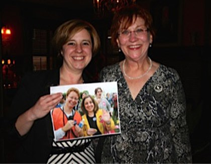 20140428SeenNOW State Rep. Erin Molchany and Jeanne Clark (holding a picture from the 2004 March for Women's Lives) at NOW event.
