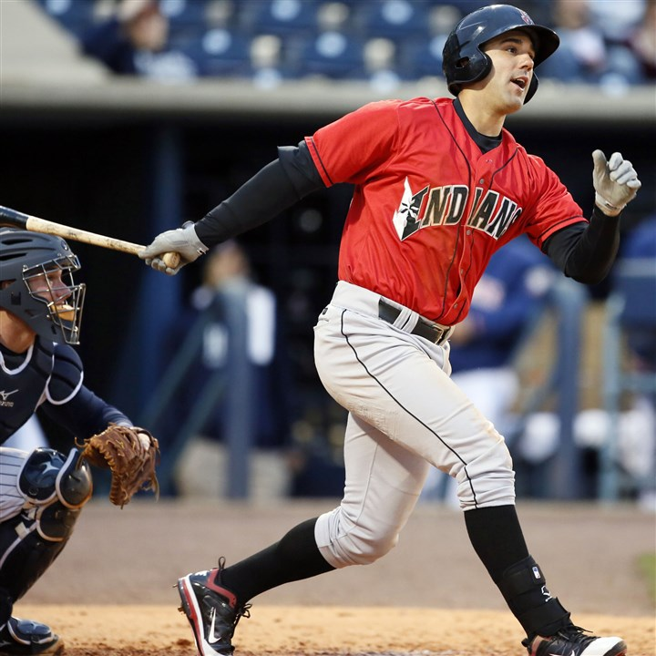 Andrew Lambo Andrew Lambo drives in two runs last Tuesday for the Indianapolis Indians against the Toledo Mud Hens. Lambo, in the mix to be one of the Pirates' first basemen this season, was sent to Class AAA, where he has been playing outfield and designated hitter.