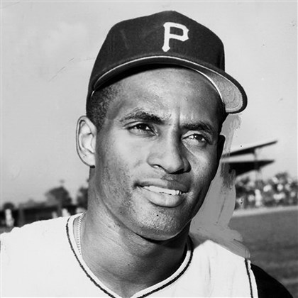 Roberto Clemente Pittsburgh Pirate right fielder Roberto Clemente