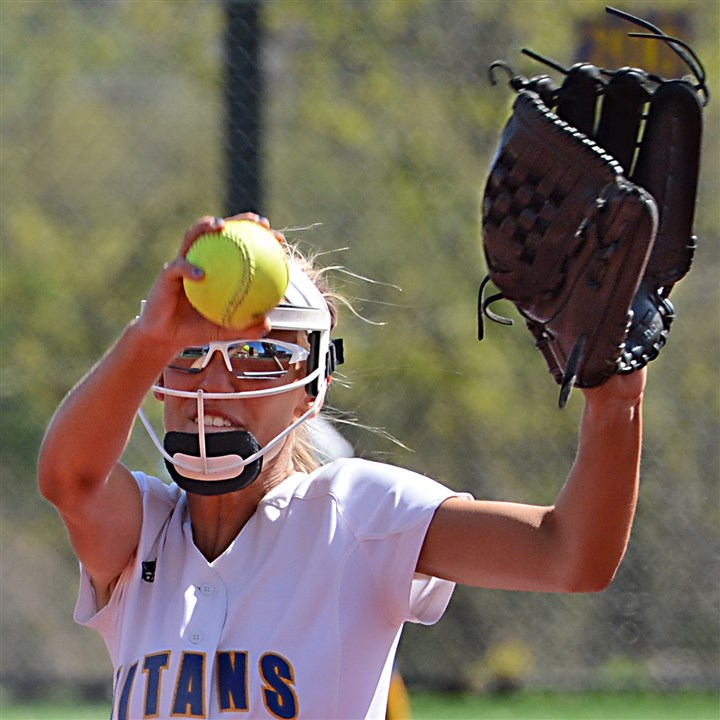 Paige Flore Paige Flore has put up some very impressive numbers pitching for the West Mifflin Titans softball team this season.