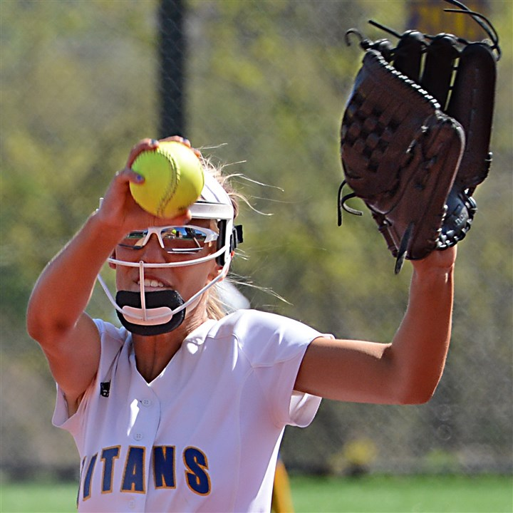 9f300kmu.jpg Paige Flore has put up some very impressive numbers pitching for the West Mifflin Titans softball team this season.