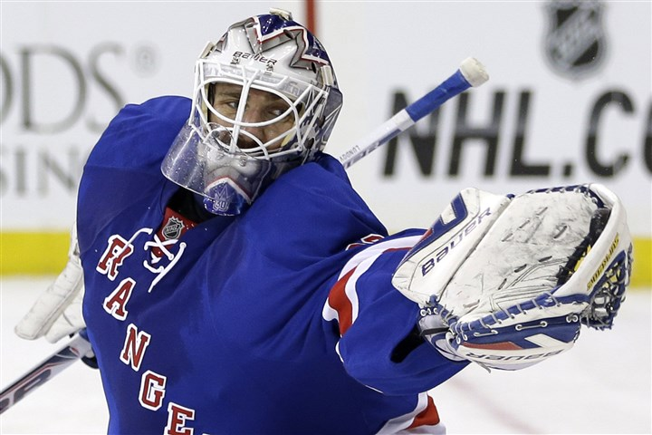 Henrik Lundqvist Rangers goalie Henrik Lundqvist makes a save during the first period of a game last year against the Phoenix Coyotes. He already owns the Rangers' club records for most career wins and shutouts. Both were accomplished this year in a most successful season.
