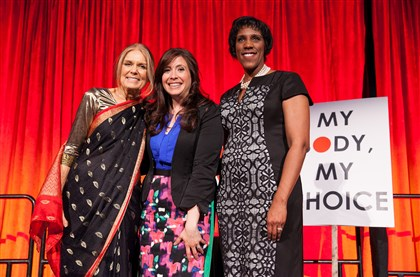 Gloria SteinemHeather ArnetTeresaYounger At the 40th anniversary gala for the Ms. Foundation for Women in New York City on Thursday, from left: Gloria Steinem, Heather Arnet and Teresa Younger.