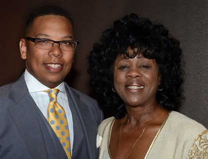 20140501bwNAACPseen01 Chair, Chase Patterson and NAACP chapter president, Constance Parker.