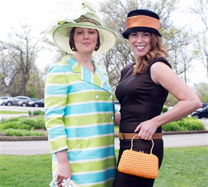 Spring Hat Luncheon Brenda Roger and Rebecca Sexton. #SEENbestvintagestyle