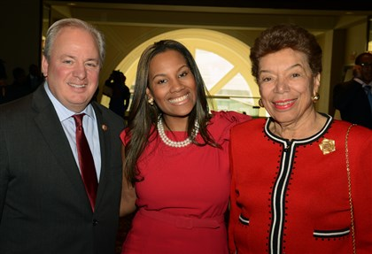 20140501bwNAACPseen05 U.S. Rep. Mike Doyle, Sabrina Saunders and Cecile Springer.