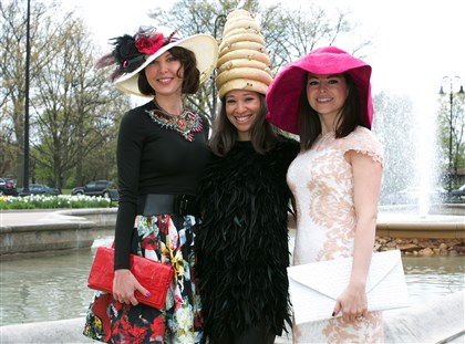 Spring Hat Luncheon Svetlana Kossman with Kiya Tomlin and Sandra Reiman. Ms. Tomlin wears a custom-made Gina Mazzotta hat. (Natalie's pick for best hat #SEENhatrace).