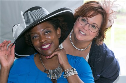 Spring Hat Luncheon Shakita Trigg with Wendy McCabe.