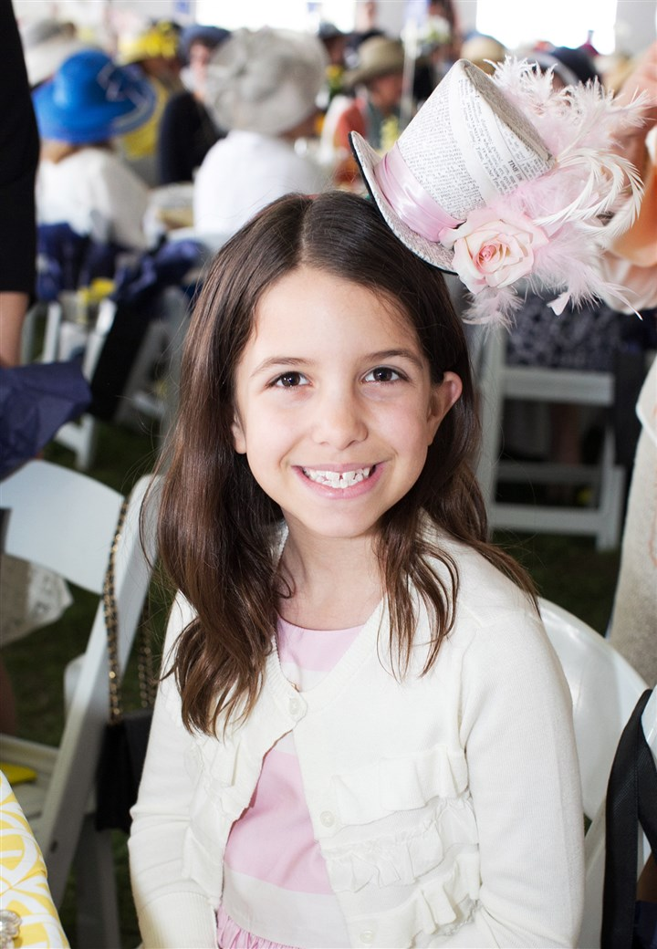 Spring Hat Luncheon Elizabeth Kamin, 8, smiles for the camera. #SEENbesttophat