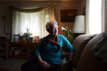 Kay Schachner, 78, at her home in Ross. Kay Schachner, 78, at her home in Ross.