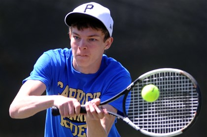 pashel0507 Tyler Pashel of Carrick came up short against Keron Jones of Perry Tuesday in the City League boys singles championship.