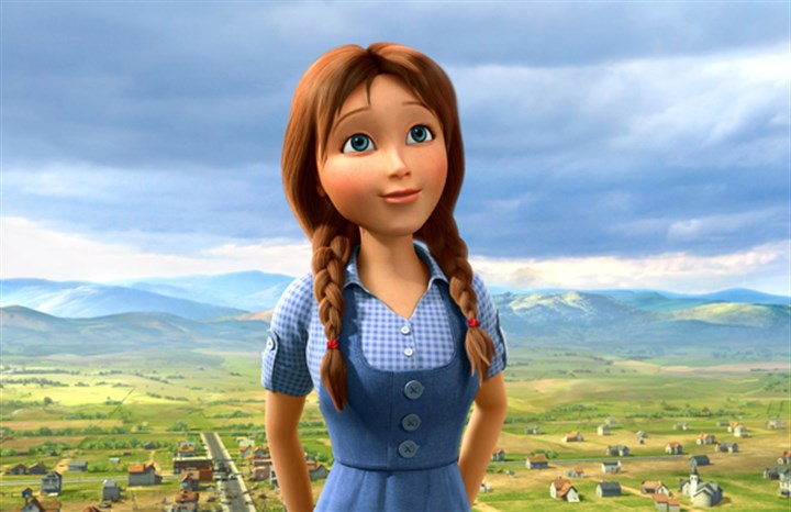 "20140509Oz2-2 Lea Michele voices Dorothy in ""Legends of Oz: Dorothy's Return."""