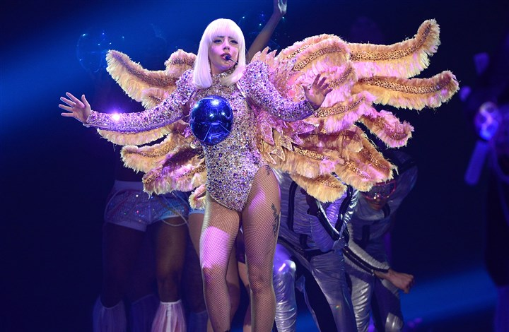 "20140508HOGagaMag_04-3 Lady Gaga performs onstage during ""The ARTPOP Ball"" tour opener at BB&T Center in Sunrise, Florida."