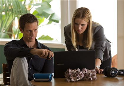 "VeronicaMarsDVD Jason Dohring as Logan Echolls and Kristen Bell as Veronica Mars in ""Veronica Mars."""