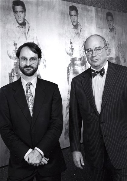 20140507hdFrancisArmstrongMag Mark Francis, left, and the late Tom Armstrong III, the first and second directors of The Andy Warhol Museum, at its opening gala in May 1994.