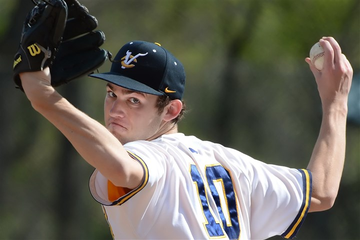 9eu00kq5.1.jpg Senior right-hander Grant Gustic has emerged as the ace of Central Catholic's pitching staff.