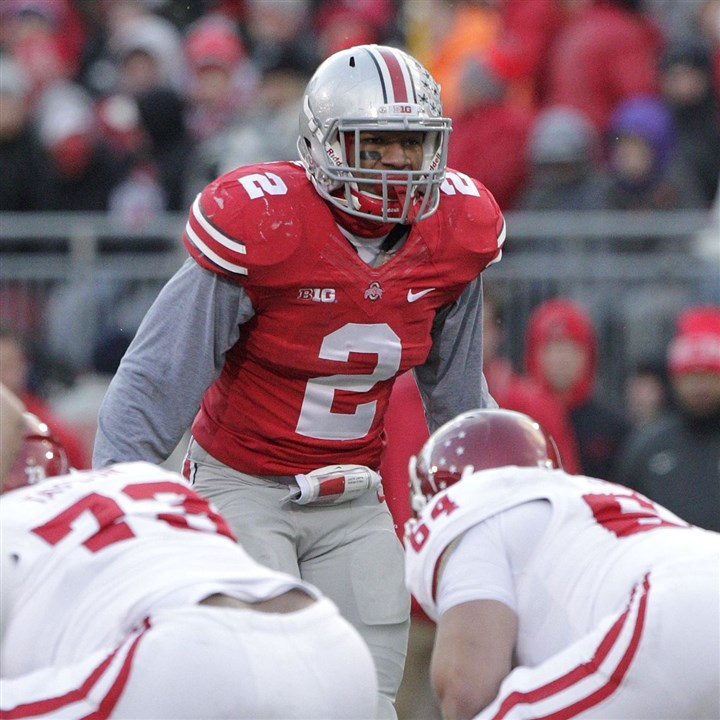 Ryan Shazier at Ohio State Steelers first-round selection Ryan Shazier, a linebacker from Ohio State, plays against Indiana during an NCAA college football game Saturday, Nov. 23, 2013, in Columbus, Ohio.