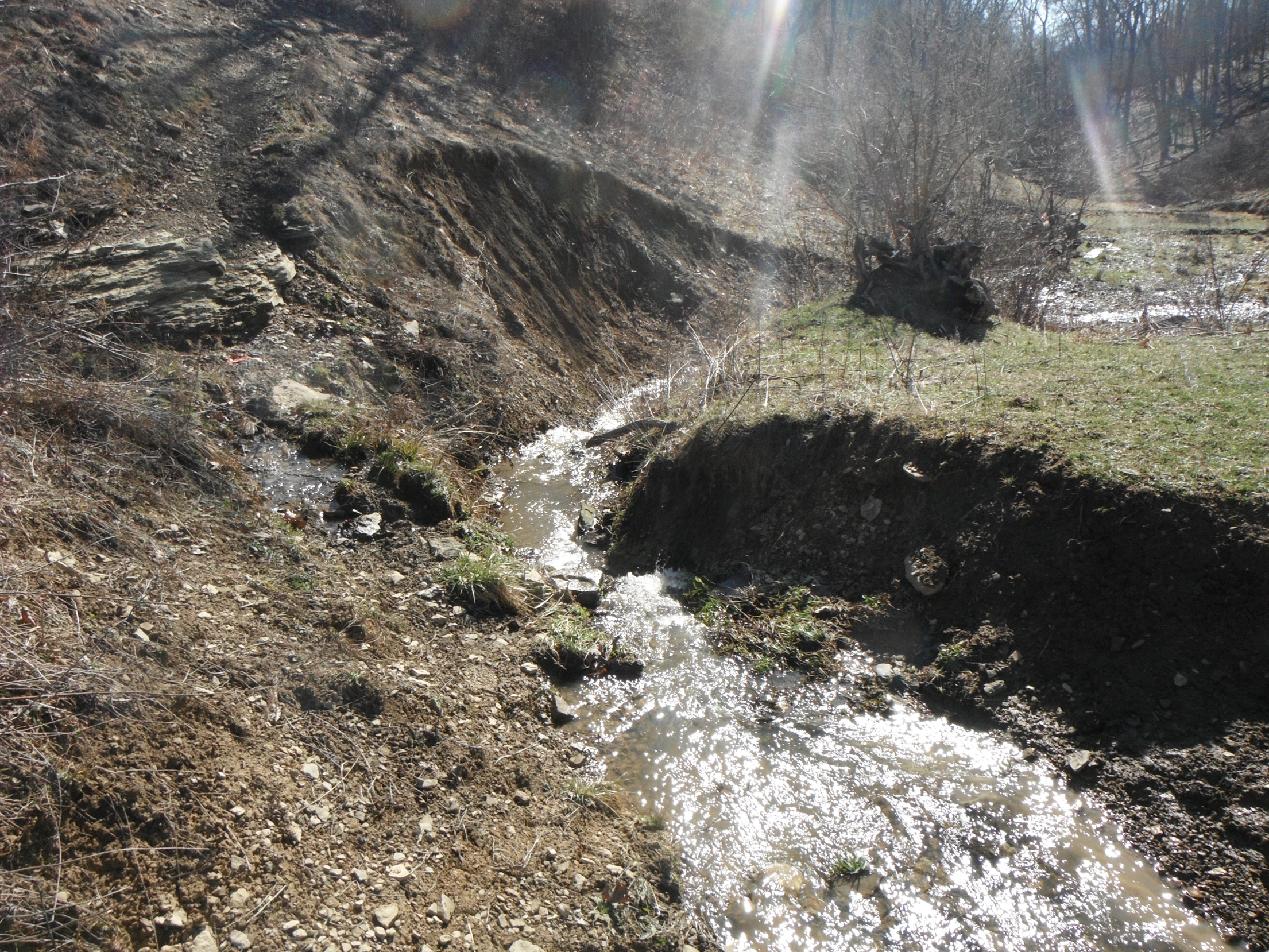 20140513hoWetlands First Pennsylvania Resource wants to restore this stream bed and sell shares of it to pipeline companies required to offset their construction impacts.