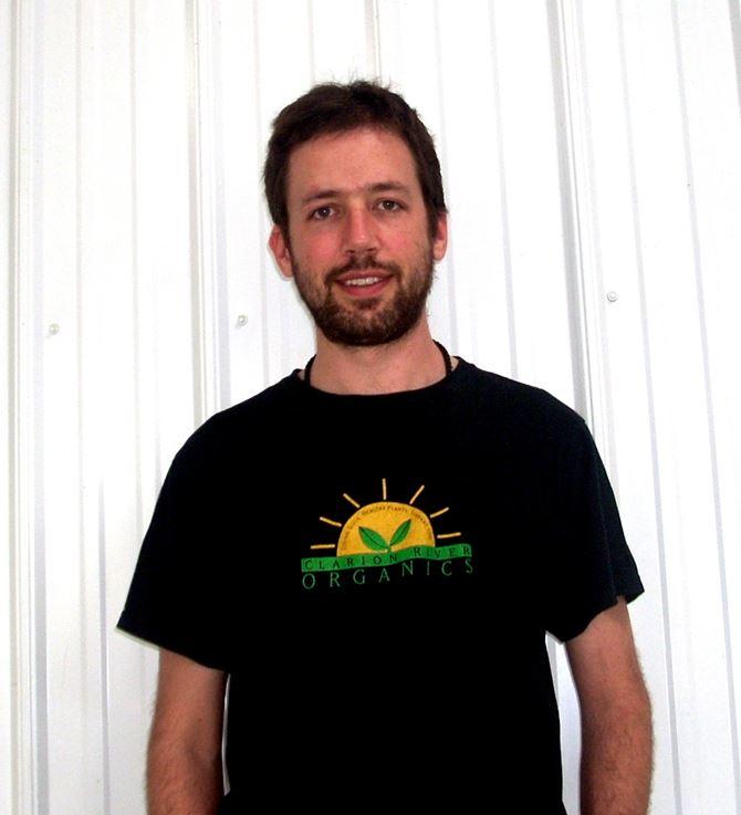 20140511hoZebBartels-2 Zeb Bartels, general manager, Clarion River Organics.