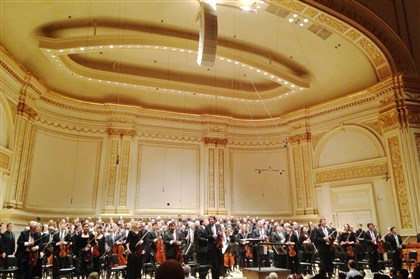 PSO cancels Gladiator LIVE The Pittsburgh Symphony Orchestra accepts applause following its performance at Carnegie Hall as part of the Spring for Music festival.