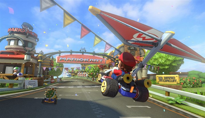 "20140515HOMarioKart2-1 Scene from the Wii U racing game ""Mario Kart 8."""