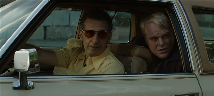 "20140516GodsPocket2-2 John Turturro and Philip Seymour Hoffman and star in ""God's Pocket."""