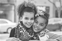 Mariah Aquino-Truss, 8, right, with her sister, Mauriauna, 9.