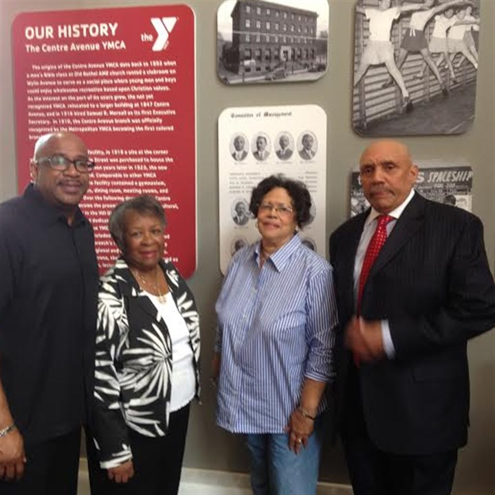 YMCAHillDistrictict_Jones_2014 From left to right: Aaron Gibson, Ann Haley, Darlene Malone and Ronald Saunders
