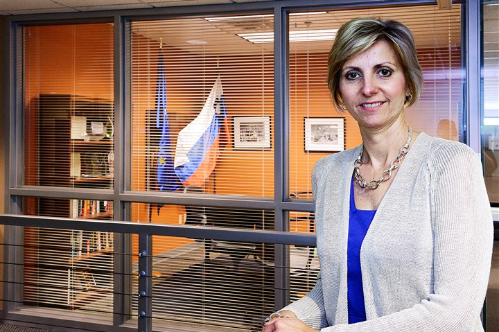20140513radPetraMitchellBiz.4-1 Petra Mitchell, president and chief executive of Catalyst Connection, is the new honorary consul for Slovenia in Pennsylvania. The consulate is a small room in Catalyst Connection's Technology Drive offices.