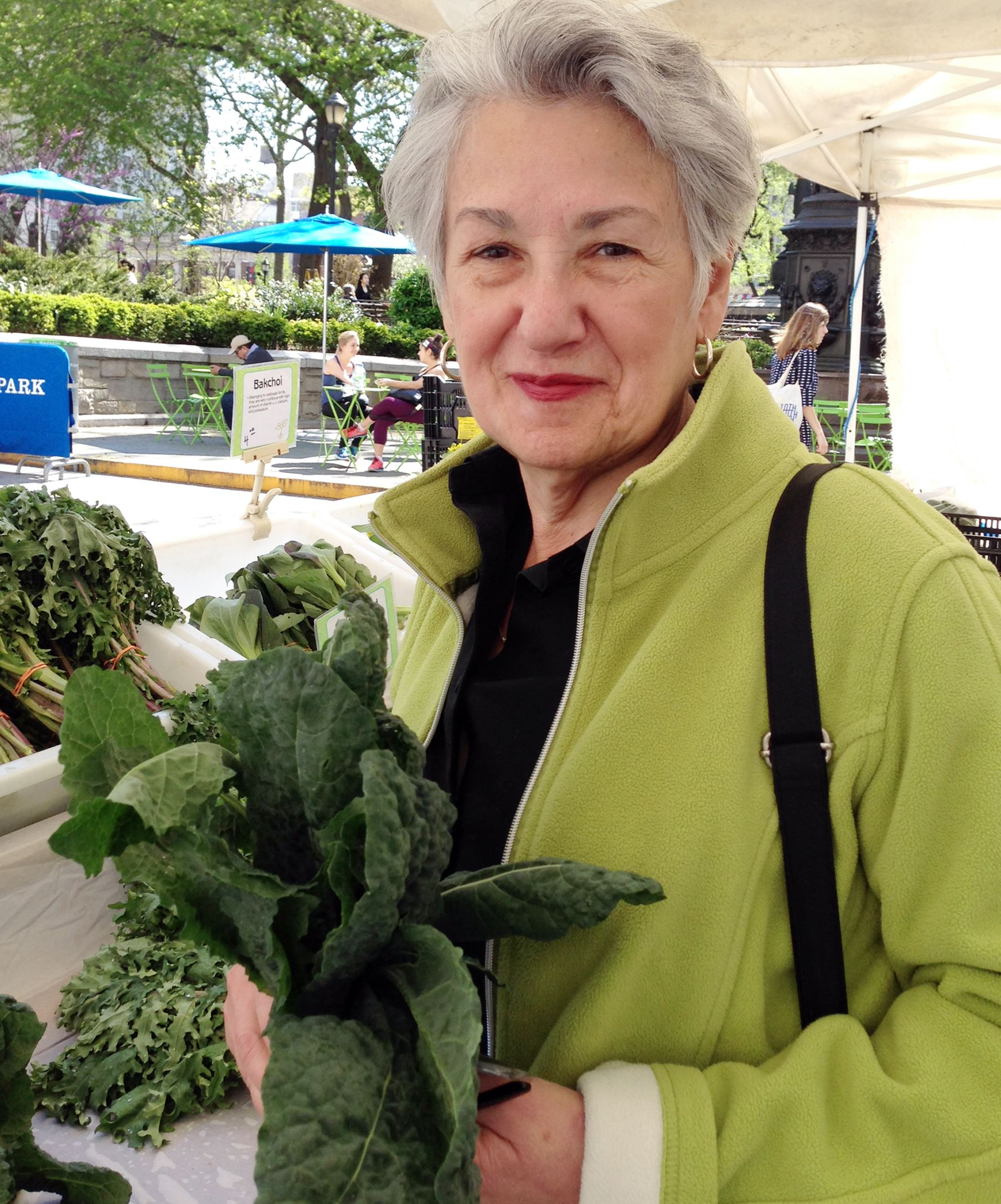"Michele Scicolone Michele Scicolone, the author of ""The Italian Vegetable Cookbook,"" shopping this May at New York City's Greenmarket."