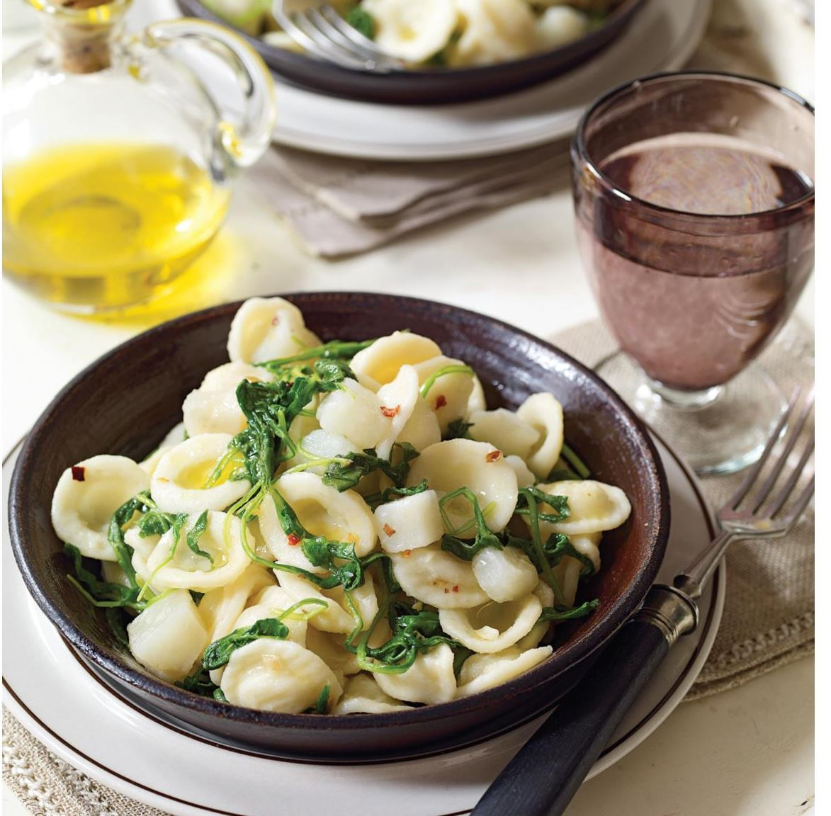 "Orecchiette  Orecchiette with Potatoes and Arugula from ""The Italian Vegetable Cookbook."""