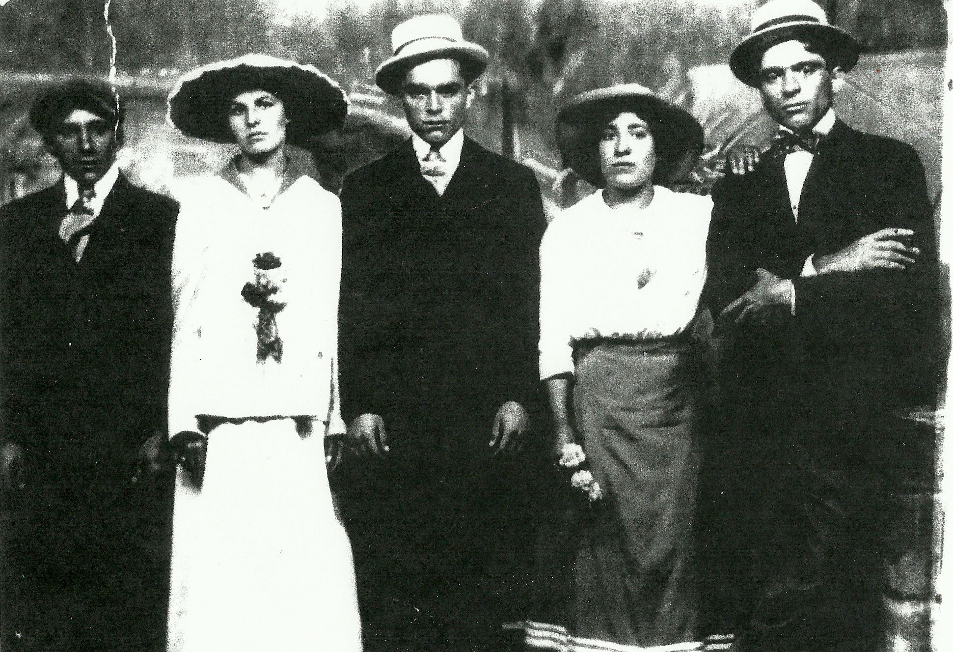 ArleneBurnettFam In this family photo from Arlene Burnett, her grandfather Nicholas Carrola is on the far right.