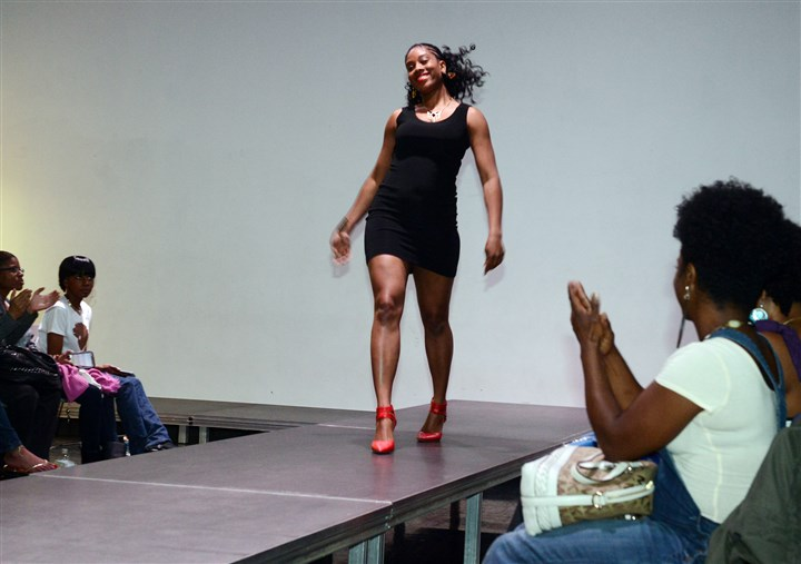 Janaya Berry on the runway, International Natural Hair Meetup Day Janaya Berry of Stanton Heights on the runway for International Natural Hair Meetup Day.