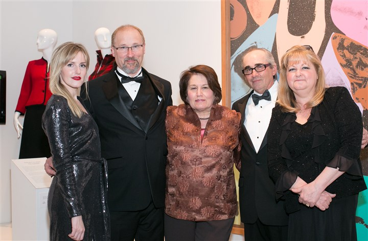 20140519jcWarhol19-1 From left, Abby Warhola, Marty Warhola, Maria Warhola, George Warhola and Madeleine Warhola. #SEENFamily