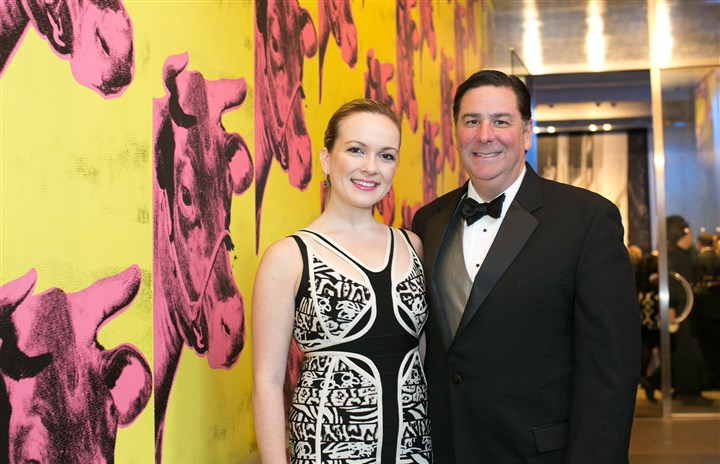 20140519jcWarhol25-1 Caitlin Lasky with Mayor Bill Peduto.