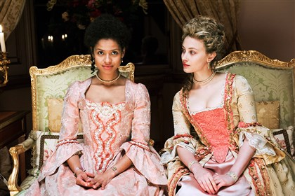 "20-140523Belle3 Gugu Mbatha-Raw and Sarah Gadon star in ""Belle."""