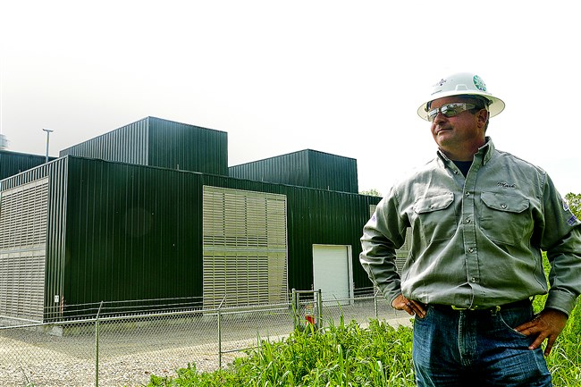 Mark Caskey, president of Washington-based Steel Nation, stands near a site that his company built in Washington County.