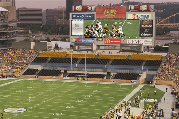 Heinz Field rendering A rendering of the elevated plaza and new 3,000 seats set for the south end of Heinz Field.