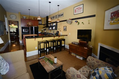 944 West North Avenue - The kitchen and adjacent sitting area. 944 West North Avenue - The kitchen and adjacent sitting area.