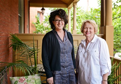 Ann Gilligan, left, and her neighbor Mary Callison  Ann Gilligan, left, and her neighbor Mary Callison open their doors for the Allegheny West Wine Tasting, House and Garden Tour.