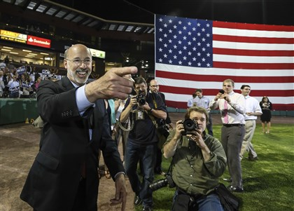 Pennsylvannia Governor Democratic nominee for Pennsylvania Governor Tom Wolf hosts his party at the Santander Stadium in York, Pa., Tuesday, May 20, 2014.