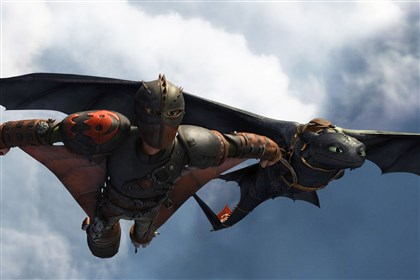 "'How to Train Your Dragon 2' Hiccup (Jay Baruchel) and Toothless do some fancy flying in ""How to Train Your Dragon 2,"" opening June 13."