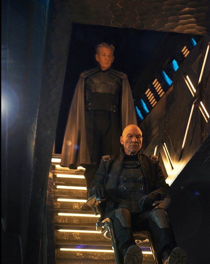 "X-Men Ian McKellen as Magneto and Patrick Stewart as Xavier, reunite in ""X-Men: Days of Future Past."""