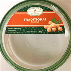Archer Farms traditional hummus Photo courtesy of the FDA Archer Farms traditional hummus. It is part of the voluntary recall.
